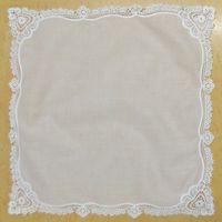 """Conjunto de 12 Home Têxteis Wedding Handkerchief 12 """"X12"""" Cotton Ladies Hankies Adultos Mulheres Hanky Partido Presentes Bordados Crochet Lace"""