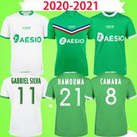 2020 2021 AS Saints Etienne camisas de futebol KHAZRI DIONY Saint-Étienne Maillot 20 21 ASSE ST Etienne KHAZRI AHOLOU BOUDEBOUZ Camisetas de futebol
