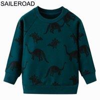 Saileroad 2 a 7 años de dibujos animados niños dinosaurios sudaderas otoño abrigos calientes para ropa de niños para niños con capucha para niños Sudaderas 201125