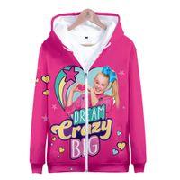 Cosplay Costume Jojo Siwa 3D Zipper Куртка Пальто наряд Одежда Одежда Толстовка Толстовка Хэллоуин Костюмы RWR