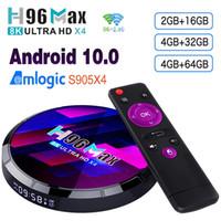 H96 MAX X4 Amlogic S905x4 TV Box Android 10 4GB 64GB 2.4G5G WIFI BT5.0 دعم التحكم الصوتي USB3.0 1000M مجموعة العلوي