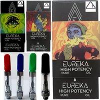 New Eureka Vape Pen Cartridge Packaging 0.8ml 1 .0ml Olio di ceramica Olio denso DAB Vaporizzatore di cera 510 Carrelli con box magnetico nero Penne vuote