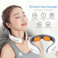 6 Modalità Massaggiatore Elettrico Massaggiatore a bassa frequenza Pulse a bassa frequenza Elettrodo Massaggio Pad Collo Collo Impastato Beating Massor Dolore Affaticamento Sollievo 201104