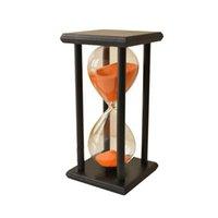 NOCM-Colors! 60min Drewniany Piasek Klepsydra Hourglass Zegar Wystrój Zegarowy Unikalny typ prezentu: 60min Black F Jlldkc MX_Home