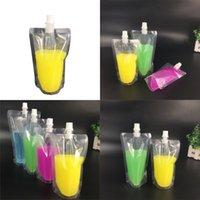 Sıvı Paketleme Çantası Çok Şartname Soya Sütü Meyve Suyu İçecekler Emme Çantaları Şeffaf Kendini Destekleyici Çuval 0 25JS4 L1