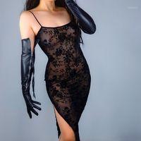Guanto di cuoio naturale della cerniera della cerniera di colore nero della pista da donna della pista da donna in pelle di pecora naturale Glove femminile R33151