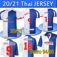 2020 2021 New Blackburn Soccer Jersey 1994 95 Retro Rovers Home Gallagher Holtby Retro Rovers Home Camisetas de Fútbol Shearer Sutton Ripley