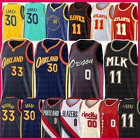 Stephen 30 Damian Curry 33 0 Lillard Wiseman Trae 11 Young Basketball Jersey Carmelo 00 Anthony Spud 4 WebB 2021 New Mesh Mens Jerseys