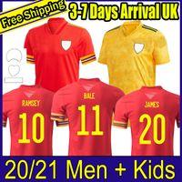 2020 2021 Galler Futbol Forması 20 21 Balya Allen James Ben Davies Wilson Camisetas Ev Red Uzakta Maillot Formalar Kitleri Futbol Gömlek