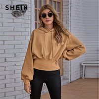 Drop Shoulder Drawstring Hoodie Women Autumn Sweatshirt Pull...