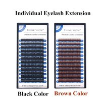 Extensiones de pestañas marrón negro color mezcla longitud individual ojo pestañas seda visón 3d pestañas cilios maquillaje herramientas