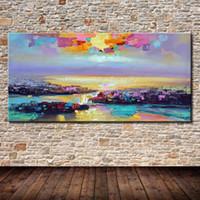 Peintures Mintura Art peint à la main Abstrait Paysage Huile sur toile Photos murales modernes pour salle de séjour Décoration de chambre à coucher