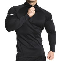 Mens zipper Hoodies Fashion Casual male gyms fitness Bodybui...