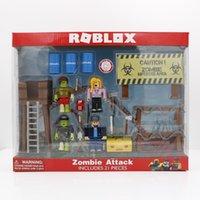 Roblox 좀비 공격 플레이 세트 4pcs / 팩 7cm PVC 스위트 인형 소년 장난감 모델 인형 컬렉션에 대 한 크리스마스 선물 y0112