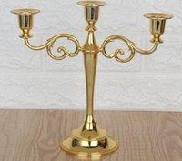 Titular de la vela de los candelabros de la pieza central de la boda de la palmatoria de 3 brazos soporte de la vela de la boda de eventos Candelabro palillo de la vela Decoración de Navidad