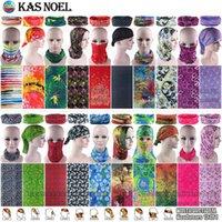 Ücretsiz Kargo 10pcs / lot Çeşitli Çiçekler Moda Kadınlar Tasarım Mikrofiber Nefes Sorunsuz Fonksiyonlu Şapkalar Borulu Spor bandanas