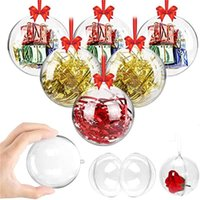 Arbre en plastique transparent Fillable Boule Babioles Creative Décoration de Noël Boule Ornements 4cm 6cm 5cm 7cm 8cm 9cm 10cm