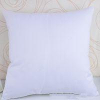 Sublimación Funda de almohada Sublimación en blanco Cubierta de cojín Cubierta de almohada DIY 40 * 40 cm Home Sofá decoraciones Material de piel de melocotón brillante XD24392