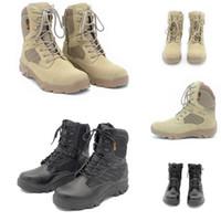 Hotsale Non-Brand Homens Cowhide Supede Delta Tactical Militar Bota Ao Ar Livre Alta-Top Deserto Combate Botas Mens Sapatos 39-46