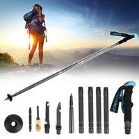 Areyourshop fitness andando trekking stick pólo chave de fenda multi função defesa sobrevivência ferramentas esportivas artigos acessórios peças