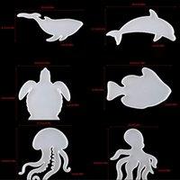 DIY Turtle Crystal Drop Mold Marine Animal Coaster Molde de Silicone Resina Combinação Combinação De Artesanato Ferramentas 9038 244 G2