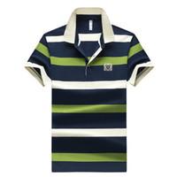 Вышивание Мужчина рубашка поло лето с коротким рукавом хлопок рубашка мужчина бизнес Буквенной мужская Tees Марка одежда M-4XL