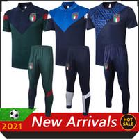 2021 İtalya Yeni Futbol Formaları Erkekler Polo Gömlek 20/21 Italia Jersey Maglie da Calcio Verlatti Insigne Immobile Bonucci Futbol Polo Gömlek