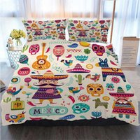 3pcs Bedding Cotton Set Super King Duvet Cover Set Mexican S...
