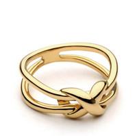 2020 Dernière mode Infinity Knoting Bague Design Gold Color Midi Anneaux pour Femmes Bague Bijoux Anel Feminino Desinger Anneaux
