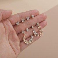 2020 New 8Pcs Sets Elegant Crystal Butterfly Earcuffs Cute Female Moon And Star Small Stud Earrings Vintage Zircon Stone Earring