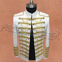 Mode Royal Kostüme für Männer Anzug Jacken Show Bühnenleistung Tragen Nachtclub Bar Blazers Mantel Best Singer Quaste Kleidung1