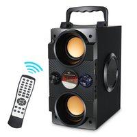 Alto-falante Bluetooth TopRoad Big Power Portátil Sem Fio Subwoofer Subwoofer Suporta Controle Remoto FM Rádio TF AUX LJ201027