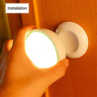 USB ricaricabile luci sensore di movimento del sensore ha attivato la notte della parete della luce di induzione Atmosfera lampada ad armadio Corridoio gabinetto -L
