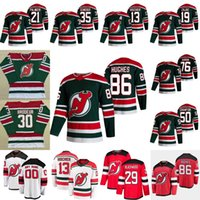 29 MacKenzie Blackwood New Jersey Devils 2021 Ters Retro Nico Hischier Jack Hughes Travis Zajac Kyle Palmier P.K.Subban Crawford Jersey