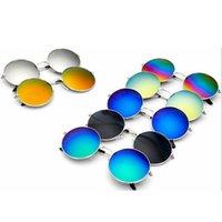 Fashion rond cadre Polarisé Sunglasse Retro Hommes Conduite de camping Lunettes de vue Femme Voyage Plage UV Eye de protection TTA1183-14