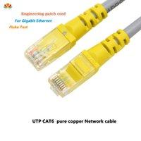 كابلات الكمبيوتر موصلات 8M UTP CAT6 كابل RJ45 شبكة الصلبة النحاس النقي الملتوية زوج رقعة لوحة الحبل LAN خط جيجابت إيثرنت