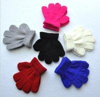 1-3T Bébé Gants chauds Full Finger Enfants Enfants Tricoté Solide Color Gant Gant De Mitat Enfants Hiver Warmer Gant Wholesale