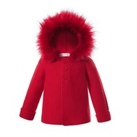 Pettigirl Newborn Baby Coats Knitted Sweaters Detachable Fau...