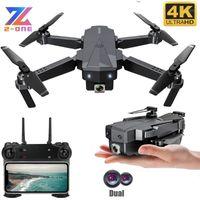بدون طيار SG107 RC بدون طيار مع كاميرا مزدوجة 4K HD مصغرة quadcopter selfie wifi fpv جيب التدفق البصري 15mins vs e68 e981