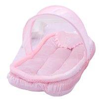 المحمولة الطفل البعوض صافي الرضع سوبر لينة الفانيلا صافي النسيج حصيرة تشفير الشاش تنفس الرضع النوم سلة موبايل