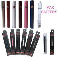 Maksimum Pil Vape Kalem Piller 510 için Ön Iğrener Voltajı USB Şarj Cihazı ile