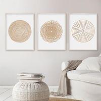Pinturas Minimalista Geométrico Círculo Círculo Pintura Pósteres Posters Impresiones Imagen de arte de la pared para la sala de estar Decoración del hogar Sin marco