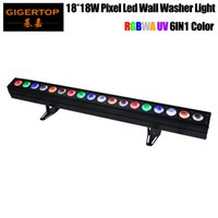 Gigertop 18 x 18W RGBWA UV 6IN1 Pixel Led Wall Washer Licht 1m lange Tyanshine Leds Individuelle DMX Control Fan Indoor Modell Kühle