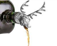 Liga de zinco Creative Deer Cabeça de Vinho Garrafa de Vinho Cork Rarque Deer Deer Vinho De Vinho Decoração Barware