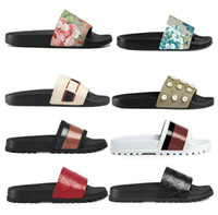 남성 여성 샌들 디자이너 신발 럭셔리 슬라이드 여름 패션 넓은 평면 미끄러운 두꺼운 샌들 슬리퍼 플립 플롭 크기 36-45