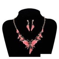 Новая Европа Партия Повседневная Ювелирные Изделия Убор женской Красочный кулон для бабочки Серьги S107 MX7LC