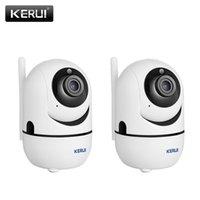 Kameralar Kerui 2 adet Mini Kamera Kapalı Gözetim Kablosuz Wifi 1080 P Destek Hareket Algılama Gece Görüş Uygulaması Bulut Depolama