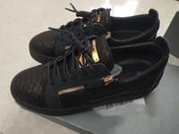 Giuseppe Zanotti shoes Sıcak İtalya Progettista Luxe Rahat Ayakkabılar Fermuar Erkek Ve Kadınlar Düşük Üst Düz Ayakkabı Hakiki Deri Erkek Ayakkabı Sneakers Eğitmenler 35-46
