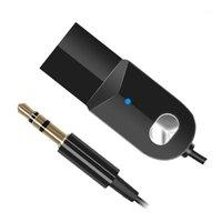 Yeni Araba Kablosuz Bluetooth Ses Alıcısı 3.5mm Jack AUX Bluetooth Adaptörü USB Güç Handsfree Araç Kiti Aksesuarları için1