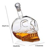 크리 에이 티브 크리스탈 두개골 머리 병 위스키 보드카 와인 디켄터 병 위스키 유리 맥주 유리 영혼 컵 물 GL jlluut lucky2005